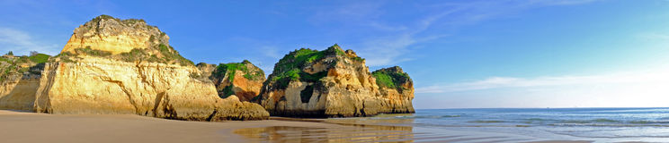 Panorama from Praia Tres Irmaos in Portugal Royalty Free Stock Image