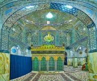Panorama of prayer hall of Shahzade Fazel Holy Shrine Royalty Free Stock Photo