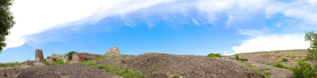Panorama of Prehistoric ruins,Uplistsikhe Royalty Free Stock Photography