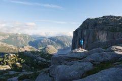 Panorama Preikestolen, Norwegia Fotografia Stock