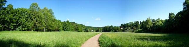 Panorama in primavera Immagini Stock
