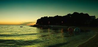 Panorama of Primoštens Cove, Croatia Stock Photo