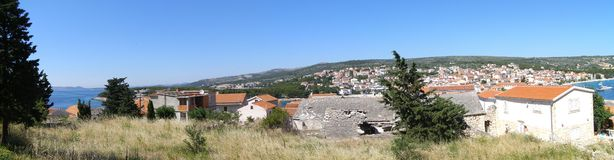 Panorama of Primosten, Croatia Stock Photos