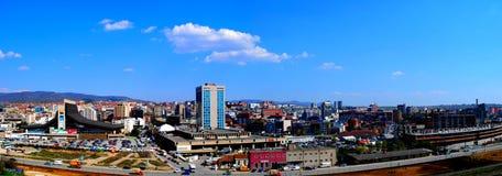 Panorama Prishtina Royalty-vrije Stock Foto