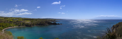 Panorama of pristine snokeling waters Royalty Free Stock Images