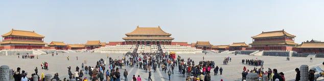 Panorama prohibido Pekín de la ciudad Fotografía de archivo libre de regalías