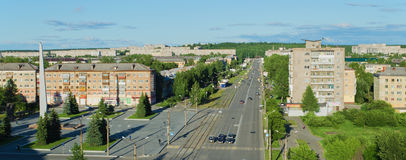 Panorama of prospectus Leningradsky Stock Photo