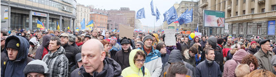 Panorama of protest manifestation Stock Photography