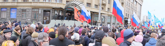 Panorama protestacyjna manifestacja Fotografia Royalty Free