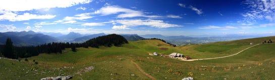Panorama przy francuza Alpes latem Fotografia Stock
