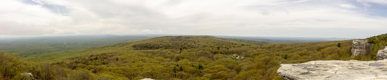 Panorama przy Sam ` s punktu prezerwą, reglanu okręg administracyjny, Nowy Jork Zdjęcia Stock