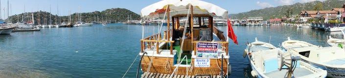 Panorama, przyjemności łodzie Zdjęcia Stock