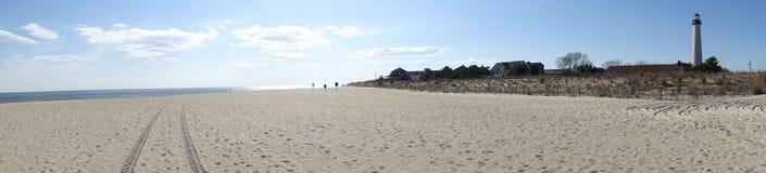 Panorama przylądka Maja latarnia morska plażą Fotografia Royalty Free
