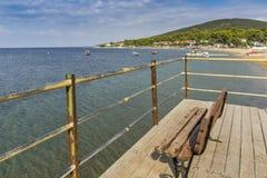 Panorama of Psakoudia, Chalkidiki, Central Macedonia Stock Photos