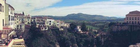 Panorama Puente Nuevo, Hiszpania Fotografia Royalty Free
