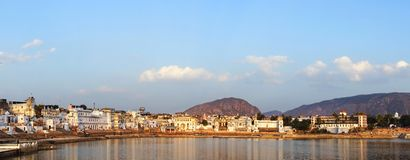 Panorama of Pushkar, Rajasthan, India. Royalty Free Stock Photo