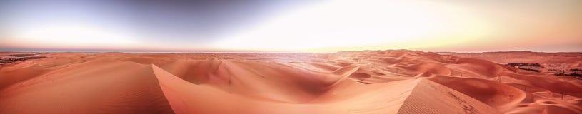 Panorama, pustyni pocierania ` al Khali, Abu Dhabi, Jan 2018 Fotografia Royalty Free