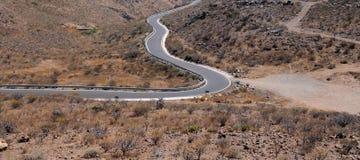 Opróżnia pustynną drogę Obrazy Royalty Free