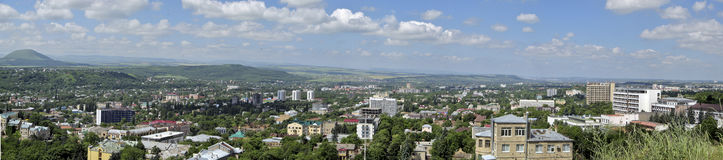 Panorama of Pyatigorsk # 2. View of the city of Pyatigorsk on the foot of the mountain Mashuk royalty free stock images