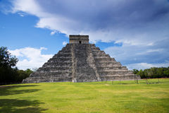 Panorama of the  pyramid of Kukulkan Royalty Free Stock Image