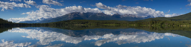 Panorama of Pyramid Lake Stock Image