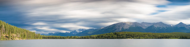 Panorama of Pyramid Lake - Long exposure version Stock Photos