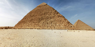 Panorama of pyramids in Giza royalty free stock images