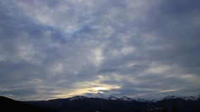 Panorama of pyrenean mountain in Ariege, France. Panorama of pyrenean mountain in Ariège with dramatic sky, Occitanie in South of France stock video
