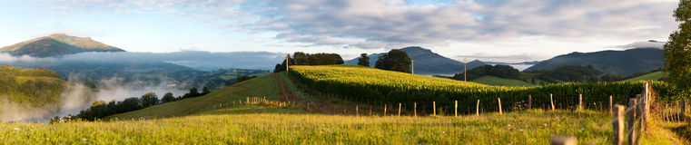 panorama Pyrenees Zdjęcie Stock