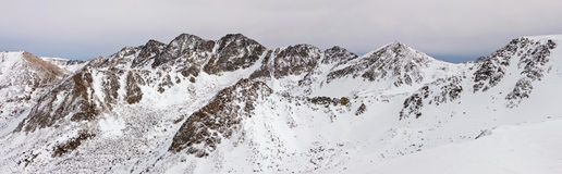 Panorama of Pyrenees Stock Photo