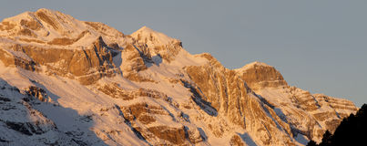 Panorama of the Pyrenees. Overview of the massif of Monte Perdido Stock Photography