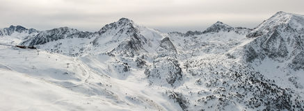 Panorama of Pyrenees mountains Royalty Free Stock Photography