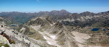 Panorama of Pyrenees mountains. Stock Image
