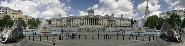 Panorama quadrato di Trafalgar Immagini Stock Libere da Diritti