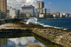 Panorama of  quay of Havana Royalty Free Stock Photos