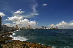 Panorama of  quay of Havana Stock Photography