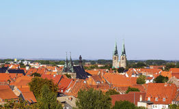 Panorama of Quedlinburg, Germany Stock Image