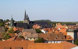Panorama of Quedlinburg, Germany Royalty Free Stock Photo