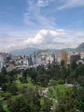 Panorama of Quito. Portrait view of Quito, capital of Ecuador Royalty Free Stock Photography