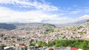Panorama of Quito Ecuador. Daytime stock footage