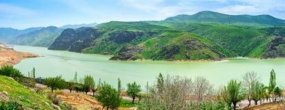 Panorama of Qurama Mountains Stock Photos