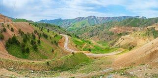 Panorama of the Qurama Mountains royalty free stock photos