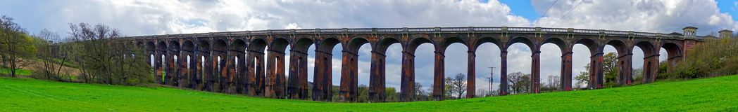 Panorama of Railway Viaduct Stock Image