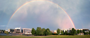 Panorama: rainbow Berlin Royalty Free Stock Photos