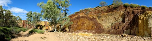 Panorama - Rainbow valley, Southern Northern Territory, Australia Stock Photos