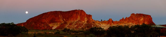 Panorama - Rainbow valley, Southern Northern Territory, Australia Stock Photo