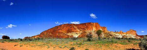 Panorama - Rainbow valley, Southern Northern Territory, Australia Royalty Free Stock Image