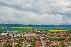 Panorama of Rasnov Stock Photo