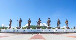 Panorama Ratchapak King's Memorial Park Tailândia Foto de Stock Royalty Free