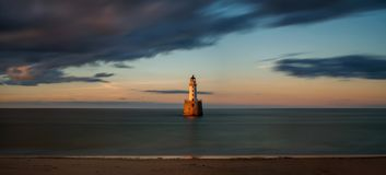 Rattray Head Panorama royalty free stock images